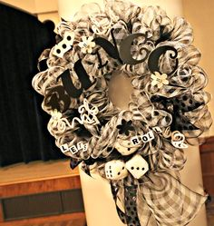 Bunco Mesh Wreath