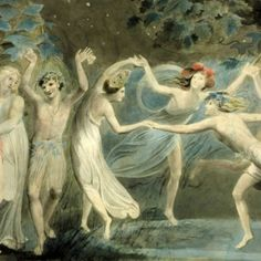 Painter of the Week: William Blake. Today: Oberon, Titania and Puck with Fairies Dancing (1786)