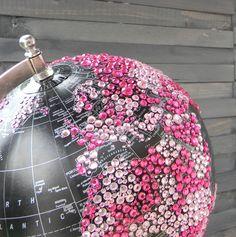 rhinestone globe close-up - WOW!