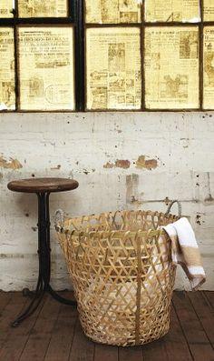 Rustic.  #bohemian #decor #basket