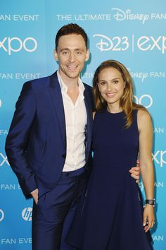 Tom Hiddleston and Natalie Portman at D23 EXPO on Aug 10, 2013 [HQ] (x)