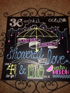 #chalkboard #pregnancy #babyshower  Chalkboard I made for my friend for her baby shower!