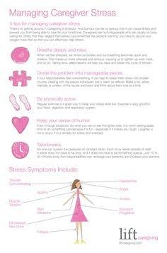 Managing Caregiving Stress Infographic