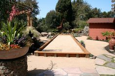 Raised bocce court instead of inset
