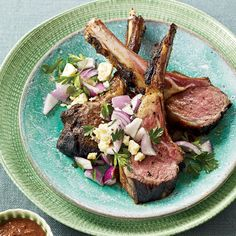 Rack of Lamb with Pasilla Chiles // More Tasty Grilled Lamb Recipes: http://www.foodandwine.com/slideshows/grilled-lamb #foodandwine