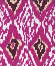 Ashbury Ikat, Hot Pink 100% Linen $29.95 #fabric