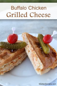Buffalo Chicken Grilled Cheese on a delicious pretzel bun | 5DollarDinners.com