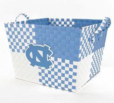 UNC woven basket...perfect for storing your Carolina Alumni Review magazines (http://alumni.unc.edu/CARcurrent/)!