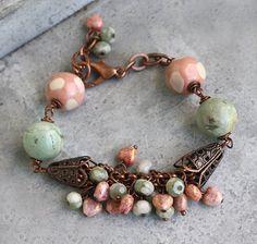 Blue Bracelet - Pink Bracelet - Copper Bracelet