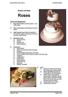 Sugarpaste Roses Tutorial Pg 1 of 4 by ingzthingz2010, via Flickr