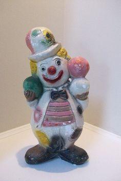 Carnival Chalkware Clown Bank from 1930 or by AtlantaHomeStore, $45.00