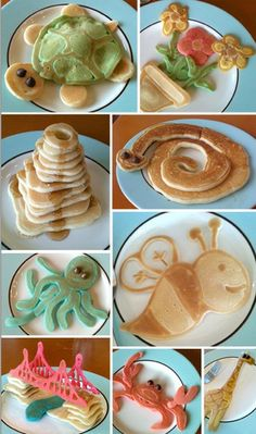 pancakes! kid food, idea, fun food, stuff, breakfast, pancakes, yummi, recip, food art