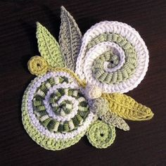 Going to have to try those bullion stitches in crochet ... such an interesting texture ....