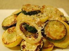 Sautéed parmesan zucchini & yellow squash Recipe- Naturally gluten free! It's delicious