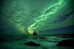 Aurora at Reykjanes Peninsula, Iceland