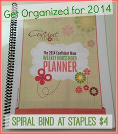 Free Household Planner will keep you motivated all year long - grab it, download it, print it and even spiral bind at Staples like me!