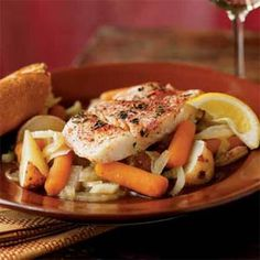 dinner, fish and vegetable recipes, seafood dish, vegetables, poach halibut, yum, eat, onedish poach, cook light