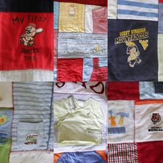 baby clothes made into a quilt
