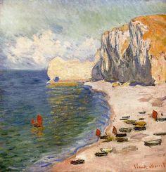 oil paintings, beaches, claud monet, claude monet, falais damont