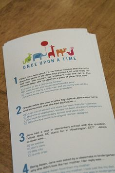 baby shower game by ashleyinzer, via Flickr. sounds fun