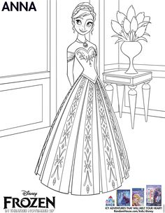 Printable Coloring Page - Anna From Frozen