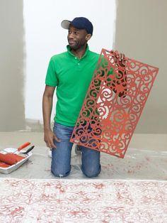 stenciled rug, bedroom rugs, area rugs cheap, cheap stencils, cheap rug