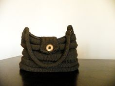 SALE OFF 15 NzLbags New  Brown Knit Bag Handbag  by NzLbags, $80.00