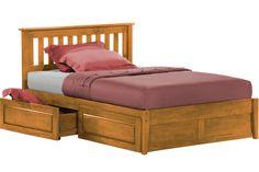 Rosemary Platform Captains Storage Bed Frame Oak