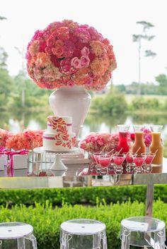 ombre poppy, coral, peach