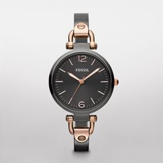 FOSSIL® Women Georgia Stainless Steel Watch. i want this!! love it