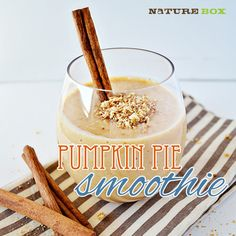 Pumpkin Pie Smoothie | Chew On This- brought to you by NatureBox!