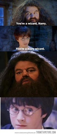 You're a wizard…