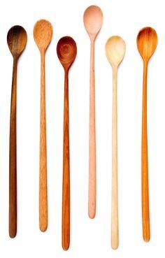Gorgeous handmade wooden tasting spoon set