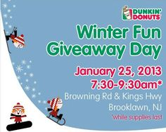 Dunkin Donuts Winter Fun Giveaway Day