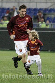 Francesco Totti e sua figlia Chanel