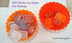 Glitter Ice Painting