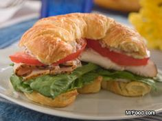 Fancy up your lunch with this hearty standby recipe for Croissant Club Sandwiches. Make one to bring to work/school or make a bunch for your friends for a spring picnic!