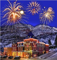 Fireworks at Beaumont Hotel & Spa in Ouray, Colorado