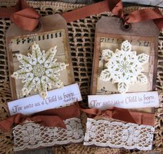 Christmas Tags Primitive Tags Primitive by KathleenRobinaugh, $6.00