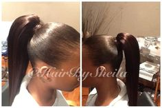 Human hair pony tail. No gel!