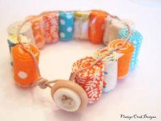 fabric beads bracelet