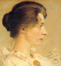 Marie de perfil, Peder Severin Kroyer. Norwegian. Active in Danish (1851-1909)