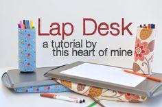 diy lap desk for car trips.