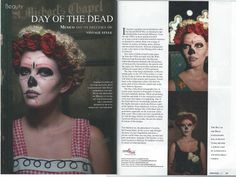 It's the Day of the dead today and here is a shoot we did a while back on the theme. Hair & make up Lipstick and Curls  www.lipstickandcurls.net Photography Nick Von Fiction