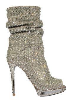 Le Silla Swarovski crystal boots...