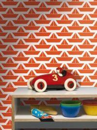 red boats kids wallpaper