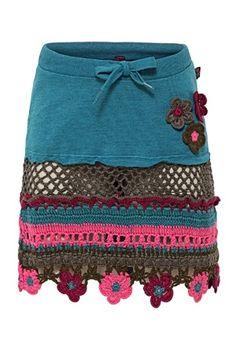 skirt. crochet inspir, crochet fashion, short work skirts, crochet edgings, jean skirts, skirtbeauti skirt, crochet skirts, craft techniqu, crochet clothing