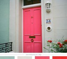 doors, door pink, color door, dream, door colors
