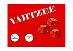 Here's a great SMARTboard file for playing Yahtzee with your class.