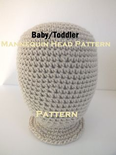 ON SALE  3 Mannequin Head Hat Display crochet PATTERNS: infant, toddler, and felted adult. $8.00, via Etsy.